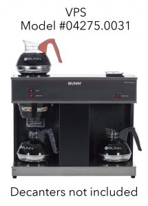 BUNN VPS Model #04275.0031 - 3 Warmers