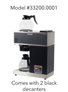 Bunn VPR-33200.0001 2 warmers + 2 decanters