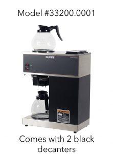 Bunn VPR-33200.0001 2 warmers + 2 decanters