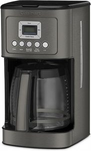 black cuisinart coffee maker