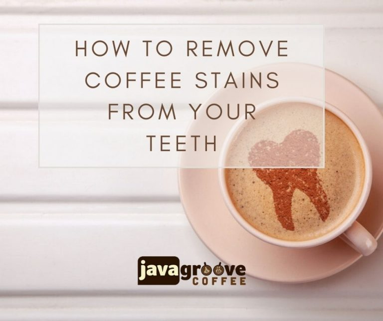 remove coffee stains from teeth