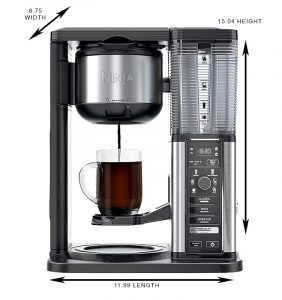 coffee ninja target dimensions